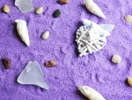 Lavender Sand For A Heart