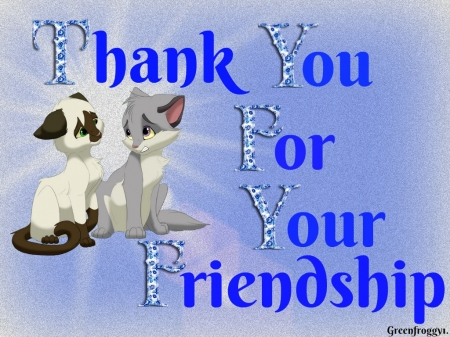 FRIENDSHIP - FRIENDSHIP, YOU, COMMENT, THANK