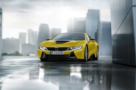 2017 BMW I8 Protonic Frozen Yellow Edition - Yellow, I8, Car, Beamer