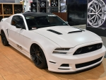WHITE FORD MUSTANG 2013