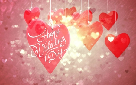 Happy Valentines Day - words, Valentines, hearts, love