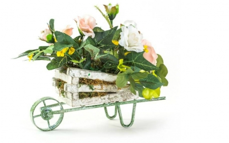 Still Life - cart, still life, flowers, plants