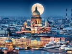 Full Moon Over St. Isaac's Cathedral F