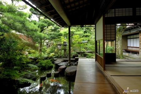 Japanese Garden Houses Architecture Background Wallpapers On
