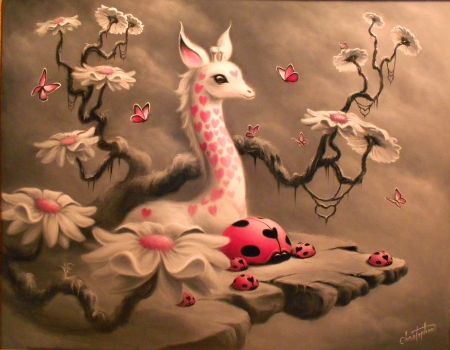 White giraffe - Fantasy & Abstract Background Wallpapers on Desktop Nexus  (Image 2229019)