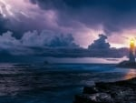Lighthouse on the Coast and Thunderstorm