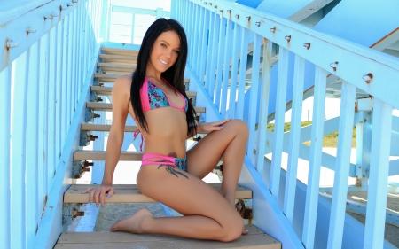 Bikini Model Megan Rain Models Female People Background