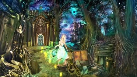 Magic Land Fantasy Abstract Background Wallpapers On