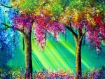colorful tree's