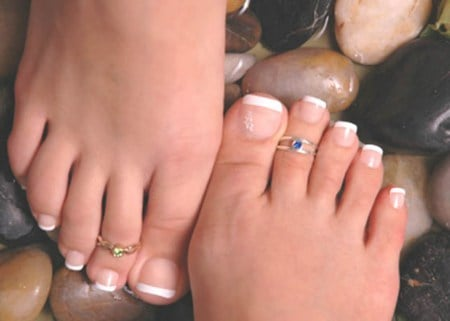 Feet With Toe Rings - feet, toe ring, models