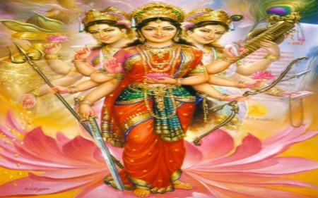 Tri Devi ( Hindu Divine Mother ) Powerful Dharma Goddess's - devi, god, photography, lakshmi, abstract, hindu, tridevi, hindi, parvati, lord, india, hinduism, tri devi, saraswati, goddess, laxshmi, indian, beautiful, mother, divine, supreme