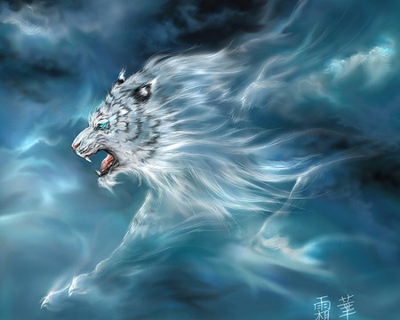 Cloud Tiger - cool, animals, wonderful, big cats, tigers, tiger