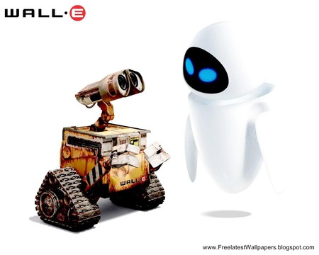 wall-E + eve - two, cute, love