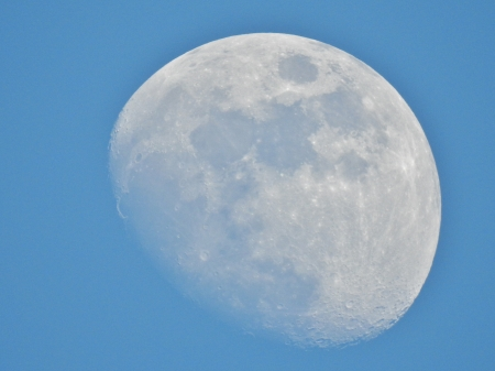 Moon Of Craters - Moon, photography, Space, Blue, Sky, Craters