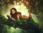 fantasy girl reading