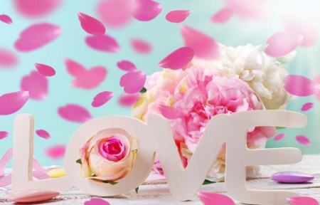 ♥ - flowers, abstract, pink, love