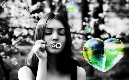 ♥Bubbles heart♥