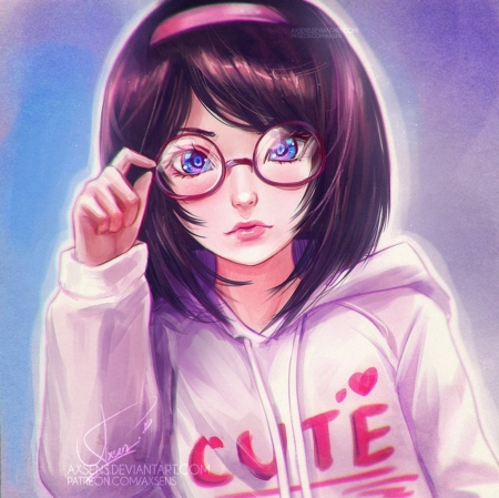 ♥ - art, manga, girl, axsens, face, cute, fantasy, anime