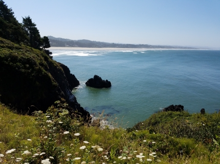 Beautiful Cliffside View - Cliffside Views, Pacific Ocean, Ocean, Nature