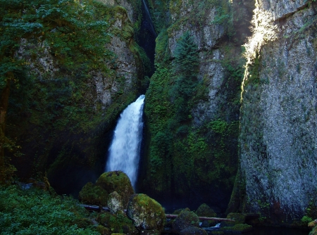 Wahclella Falls - Oregon, gorge, Columbia River, waterfalls, water, Wahclella, waterfall, beauty, nature, falls