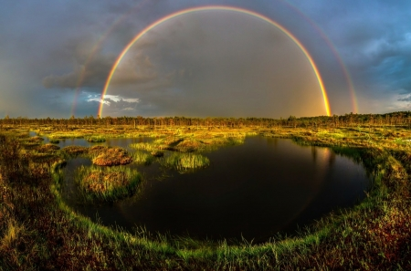 Earth's Rainbow - Nature, Rainbows, Landscapes, Clouds, Sky