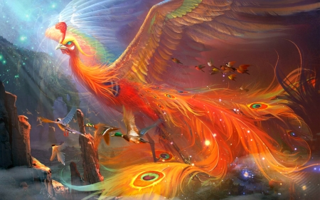 Magical Bird - art, fantasy, magic, bird
