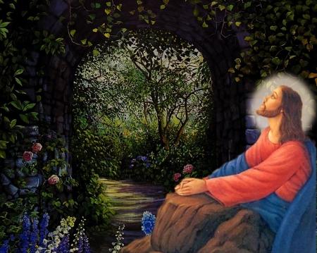 Jesus praying in the garden - Collages & Abstract Background Wallpapers on  Desktop Nexus (Image 2233573)