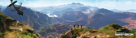 Tom Clancy's Ghost Recon: Wildlands - widescreen, Tom Clancy, warfare, video game, game, combat, wide, weapons, guns, Ghost Recon, gaming, Wildlands, Panoramic