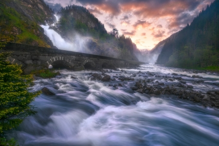 * - nature, river, sky, flowing