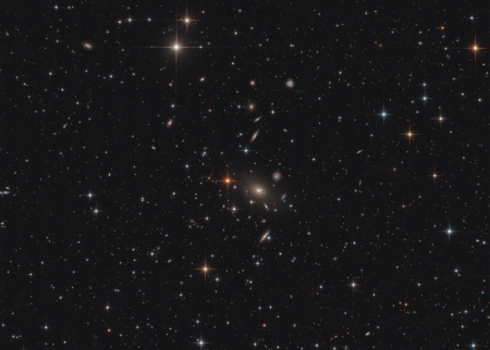 Galaxy Cluster Abell 2666 - stars, fun, cool, galaxies, space
