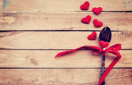 ♥ - red, spoon, hearts, love