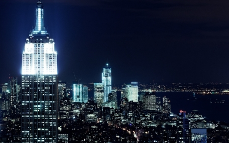 new york city nights - new, york, city, building