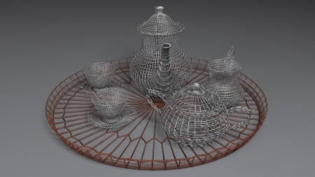 English Tea Set - English, wire, 1080, 1920, tea, set