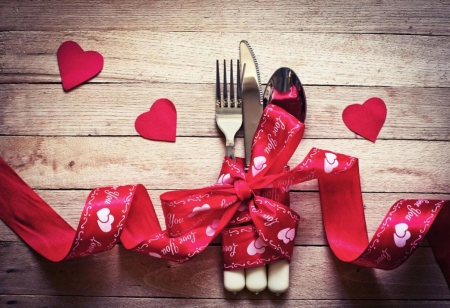 ❤ - red, love, cutlery, heart