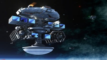 Space Station - ships, 3D, stations, space