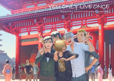 You Only Live Once - victor nikiforov, family, male, You only live once, tiger, yuri plisetsky, cute, Yuri on ice, phichit chualnot, yuuri katsuki, chirstophe giacometti