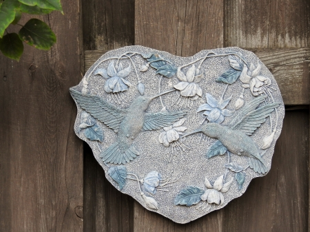 Hummingbird Plaque - Birds, Fence, Photography, Hummingbirds, Plaque