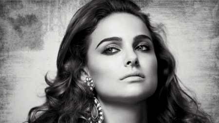 Natalie Portman - black and white, beauty, oscar, actress