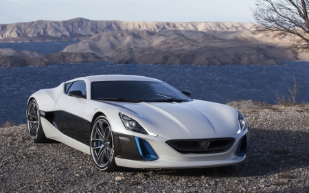 rimac concept - concept, car, rimac, mountain
