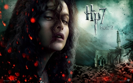 Harry Potter and the Deathly Hallows (2010-2011) - poster, witch, fantasy, Helena Bonham Carter, deathly hallows, movie, harry potter, bellatrix lestrange