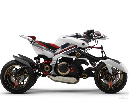 Yamaha Tesseract - vehicle, hybrid, motorbike, Yamaha, concept, electric, Tesseract, Yamaha Tesseract, motorcycle