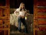 Carrie In A Barn. .