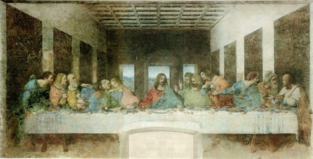 The Last Supper - architecture, Italian, wonder, genius, sculpting, Leonardo di ser Piero da Vinci, cartography, botany, person, Leonardo Da Vinci, painting, literature, The Last Supper, amazing, music, anatomy, man, inventions, mathematics, geology, astronomy, science, polymath, history, writing, engineering
