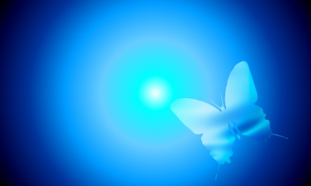 Pcologist Butterfly Blue Ghost 3d And Cg Abstract