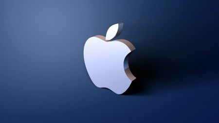 Apple shadow wallpaper - apple, iphone, mac, shadow, sign, beautiful, technology, color, company, blue