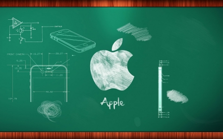 apple chalkboard - plan, cellphone, chalkboard, apple