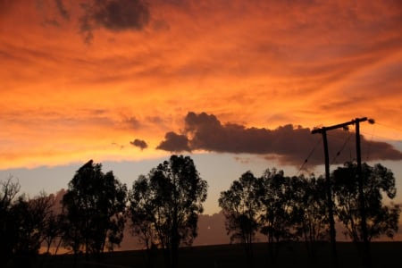 Vrede - no filter, G-ds easel, magnificent, orange skies