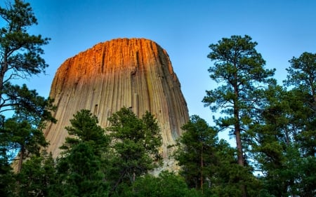 Devil's Tower - National Park, forces of nature, Wyoming, scenery, landscape, photography, wide screen, beautiful, photo, Devils Tower, USA, nature