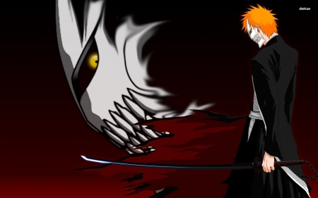 bleach - mask, man, sword, bleach