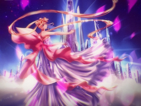 Neo Queen Serenity - pretty, sailor moon crystal, queen serenity, sweet, nice, anime, sailor moon, beauty, anime girl, long hair, lovely, twintail, blonde, sexy, serenity, neo queen, crystal, neo queen serenity, white, dress, blond, divine, beautiful, twin tail, magical girl, tsukino usagi, smc, hot, pink, sailormoon, gorgeous, usagi, female, blonde hair, twintails, usagi tsukino, twin tails, princess serenity, blond hair, tsukino, girl, petals, princess